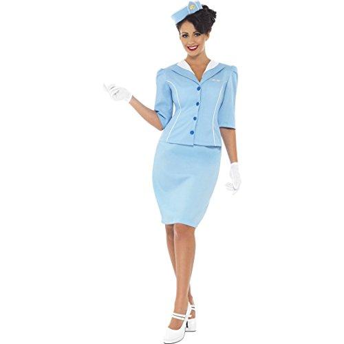 NET TOYS Stewardess Kostüm Flugbegleiterin Damenkostüm S 36/38 Damen Karnevalskostüm Stewardesskostüm Saftschubse Verkleidung