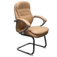"Büromöbel Bürostuhl Besprechungs Stuhl\""Bergamo\"" Echtleder Konferenzstuhl beige Leder von Jet-Line Homeoffice Home Office"