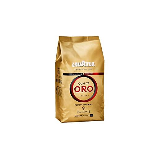 Lavazza Qualità Oro, 100% Arabica Medium Roast Coffee Beans, Pack of 1 kg