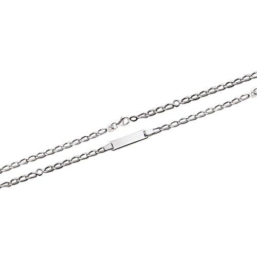 MARY JANE Cinturino argento, Bambino/Bambina, lunghezza: 14/16 cm, diametro: 5 mm, in argento 925/1000, con incisione in omaggio