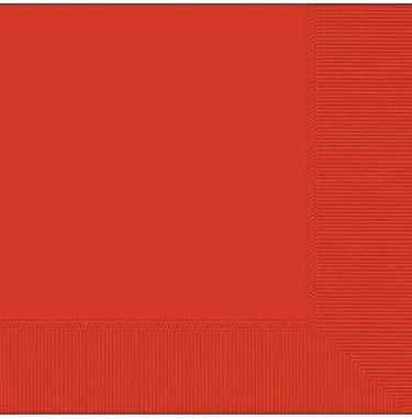 Red Popularity Luncheon Napkins-50 Popular standard Pack
