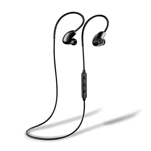 Motorola Verveloop 500 ANC - Auriculares Bluetooth (IP54, cancelación de Ruido, fijación de Seguridad) Color Negro