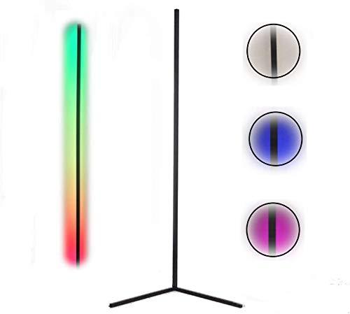 Lampara de Pie LED RGB Regulable con Control Remoto Táctil, Luz Blanca, Estilo Moderno, Bajo Consumo, Lámpara de Suelo. (Blanco)