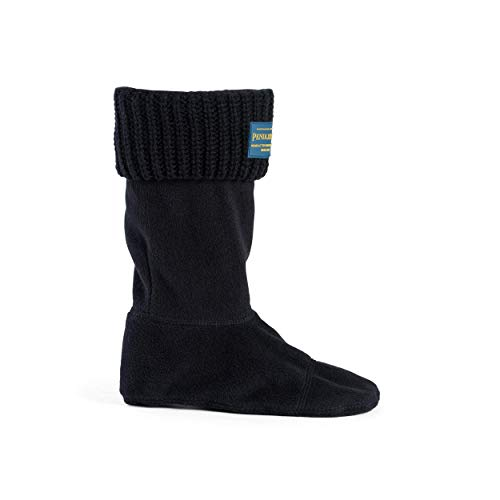Pendleton Womens Short Shaker Stitch Thermal Boot Sock Lining for Rain Boots, Black, Medium