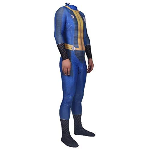 Película traje Cosplay Fallout 4 PS 4 Adultos Niños azul apretado traje de Halloween mono vestido partido del tema de los apoyos SPIDERMANHTT (Color : Superhero, Size : 125-135)