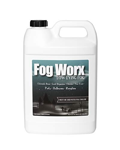 Fogworx Low Lying Fog Juice, Low lying Indoor-Outdoor Fog, Designed Fog Chillers, Ground Foggers and Low Lying Fog Generators, 1 Gallon