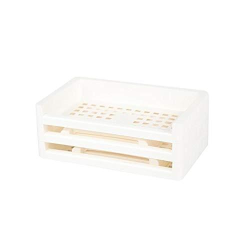 XINHANGXIAN Display-Rack Mehrschichtige Büro Storage Box Kosmetik Skin Care Desktop Storage Rack-Stationary Container-Desktop (Farbe : White)