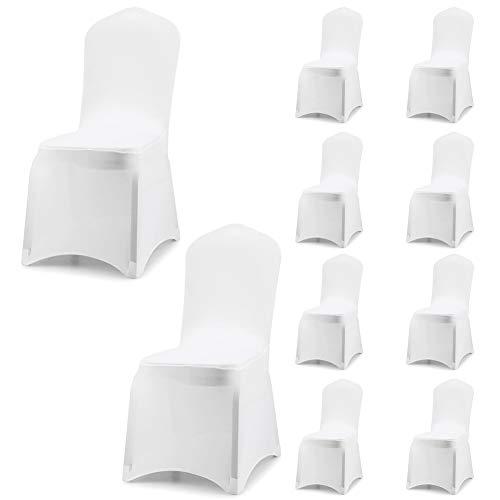 Fundas para sillas Pack de 10 Fundas sillas Comedor,Lavable Extraíble Funda,Muy fácil de Limpiar,Duradera Modern Bouquet de la Boda,Hotel,Decor Restaurante