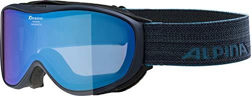 ALPINA CHALLENGE 2.0 Skibrille, Unisex– Erwachsene, navy, one size