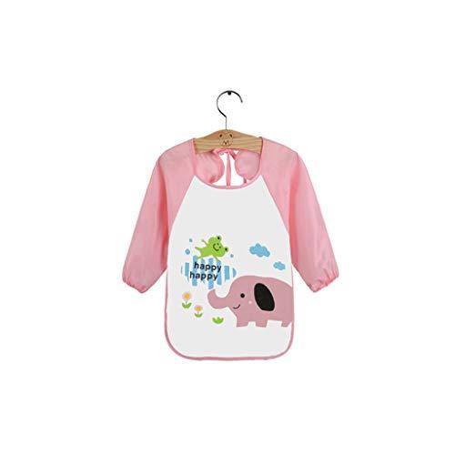 WuLi77 - Bavaglino impermeabile in cotone per bambini e neonati, accessorio per mangiare 3