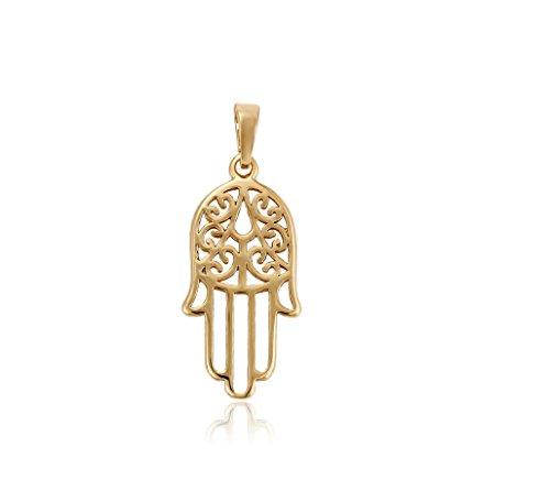 Hand der Fatima Hamsa Kette Gold 18K geldgold echt vergoldet Callissi Schmuck (45)