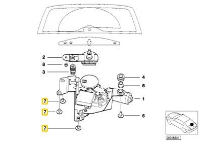 Original 3 5 X5 X6 Z3 Torx Schraube Unterlegscheibe ISA M6X9 10 Stück 07147154230