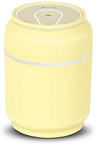 Umidificador de dossel para dossel com umidificador de névoa fria para presente Mini umidificador com ventilador de luz USB 7 cores LED 200 ml Tanque de água Usb umidificador 3 em 1 spray umidificador para casa, sala de estar, quarto, Offi