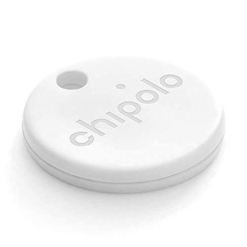 Chipolo ONE (2020) - Lautester Wasserresistentes Bluetooth Schlüsselfinder (Weiß)