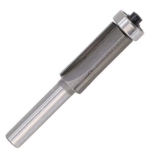 L-Yune, 1pc 8 mm Vástago 4 Dientes Extra Larga Flush Recorte Router bit Teniendo carpintería Cortador
