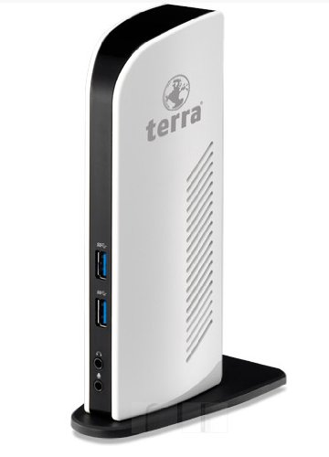 Wortmann AG Terra Mobile Dockingstation 731 USB 3.0 Schwarz, Weiß - Notebook-Dockingstationen & Portreplikatoren (Verkabelt, 10,100,1000 Mbit/s, Schwarz, Weiß)