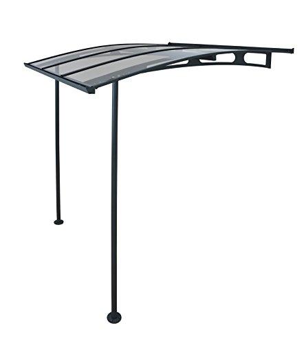 Palram Marquesina, protector de lluvia, Vega 2000,transparente, incluye canalones, 200x 200cm, cubierta y tejado de balcón