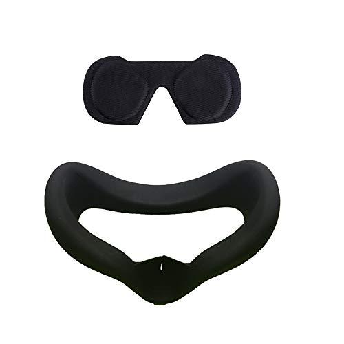 KT-CASE Oculus Quest Gezicht Kussen Cover & VR Lens Protect Cover Stofdichte Cover, Gezicht Pad Sweatproof Lichtdicht Wasbaar, Zwart