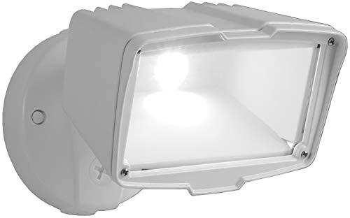 Cooper Lighting FSL203TW LED Security Flood Light, Dusk To Dawn, White Aluminum, 150-Watt - Quantity 2