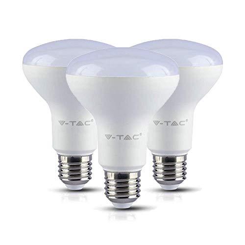 V-TAC Samsung Lot de 3 ampoules LED à réflecteur R80 à économie d'énergie 10 W (remplace 75 W) E27 Blanc lumière du jour (4000 K) 800 lm Intensité non variable Classe énergétique A+