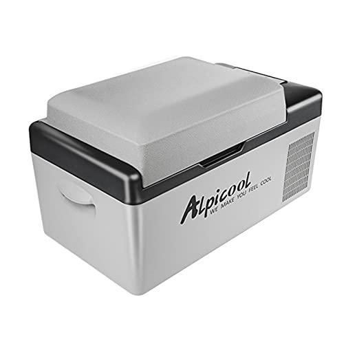 Refrigerador de coche,Funien DC 12/24V AC 110-240 V 20L Refrigerador de coche Congelador Refrigerador de nevera Compresor de nevera automático BT Connected App Control / 3 niveles de voltaje ajustable