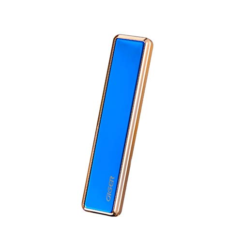 Lcb Lighter Double arc Plasma Lighter, Metal Pull-Down USB Rechargeable Windproof flameless Electric Lighter, Used for Outdoor fire Adventure Camping Hiking (Color : Blue)