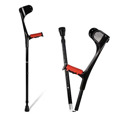 GDEVNSL Muletas de antebrazo Plegables para Adultos (par), muletas de puño Plegables con Almohadilla de Codo de aleación de Aluminio Ligera de Altura Ajustable, 1 Pieza