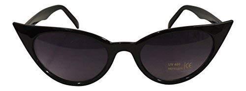 Gafas de sol de mujer, estilo retro, de ojos de gato, años 50, UV400 Negro negro Talla única
