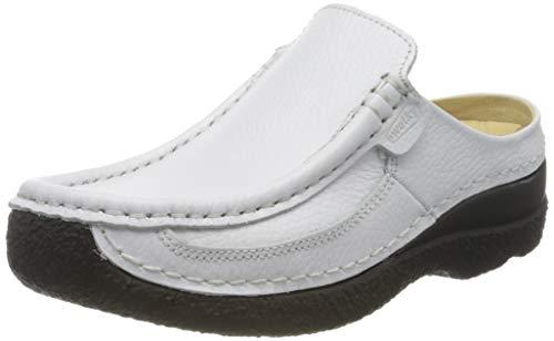 Wolky Comfort Clogs Roll Slide - 70100 Weiss gedruckt Leder - 38