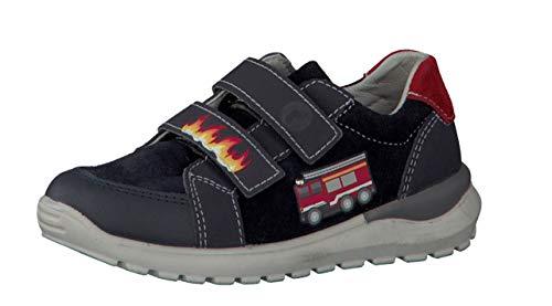 RICOSTA Mädchen Sneaker Bobbi 6923600, Kinder Low-Top Sneaker,Halbschuh,Sportschuh,Klettschuh, Klett-Verschluss,See,26 EU