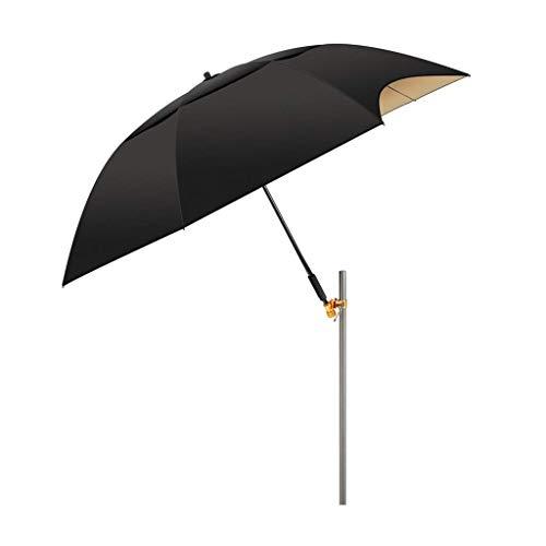 Macro Paraguas de Pesca, Parasol, Carbono Ultraligero, 32 Costillas, a Prueba de Viento de Doble Cadena, 0 transmisión de luz, Impermeable, Compuesto de 4 Capas