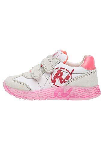 Naturino Jungen Mädchen Jesko VL Leichtathletik-Schuh, Bianco Bianco Fuxia Fluo 1n19, 29 EU