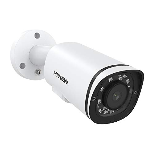 H.VIEW 4K PoE IP Kamera 8MP Überwachungskamera (3840x2160P) mit Mikrofon für Außen/Innen rtsp Wetterfest Onvif Netzwerk Sicherheitskamera IR Nchtsicht/Bewegungserkennung