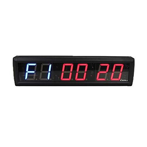 FTVOGUE 2.3 '' 6 dígitos LED Temporizador de Intervalo Cuenta Atrás Reloj Cronómetro Hogar Gimnasio Fitness Reloj Decoración de Escritorio(02)