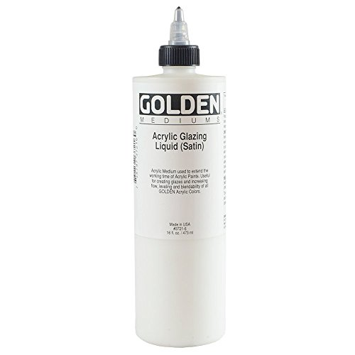 Golden Acryl Med 16 Oz Glaze Liquid Satin