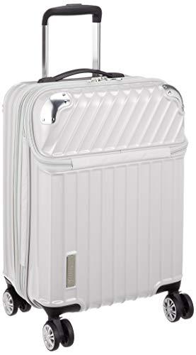 [トラベリスト] スーツケース ジッパー トップオープン モーメント 機内持ち込み可 35L 54 cm 3.4kg ホワイトカーボン