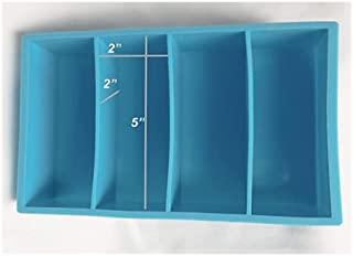 Willow Trail - Large Blue Silicone Ice Cube Tray 4 Cavity