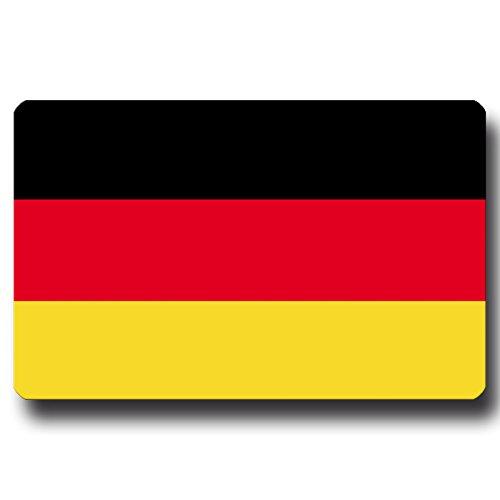 Kühlschrankmagnet Flagge Deutschland - 85x55 mm - Metall Magnet mit Motiv Länderflagge BRD für Kühlschrank Reise Souvenir