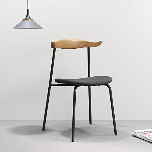 JHDY sillón Ocio, Mesa y Silla Retro Sólido de Hierro de Madera Sillón de Comedor Sillón de Estudio de diseño Sillón de Restaurante de Hotel