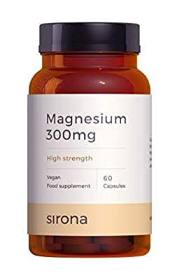 High Strength Magnesium | Clinical Grade One A Day 300mg Magnesium Capsules | Combines Magnesium Citrate Magnesium Oxide Magnesium Bisglycinate and Magnesium Stearate | 2 Months supply by Sirona Nutrition delivering to precise nutritional needs