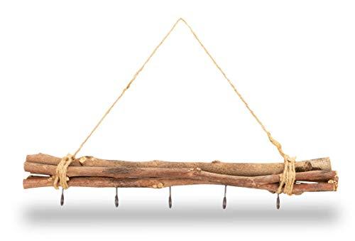 NaDeco Maulbeeren Bündel Natur geflammt ca. 50cm, mit 5 Haken und Sisal Kordel Weidenbündel Weiden Bündel Deko Zweig Deko Bündel Fensterdekoration Fensterdeko Fensterhänger Türhänger