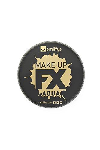Smiffys Maquillaje FX Smiffy, Aqua Pintura Facial y de Cuerpo, Negro, 16ml, a Base de Agua