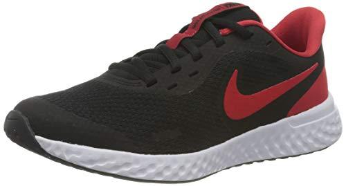 Nike Revolution 5 (GS), Scarpe da Corsa, Black/Univ Red-White, 36 EU