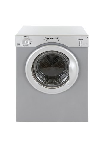 White Knight 37AS Compact Tumble Dryer, 3 Kg, Silver