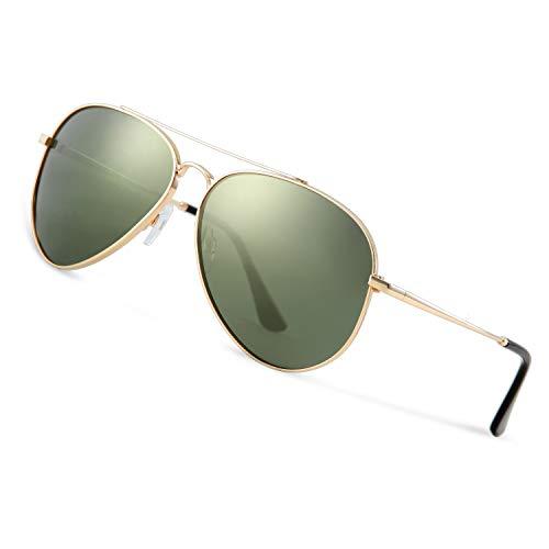 Avoalre Sonnenbrille Herren Polarisiert Pilotenbrille, 2020 Trend Polarisierte Sonnenbrille Herren grün Fliegerbrille Männer 100% 400 UV Schutz