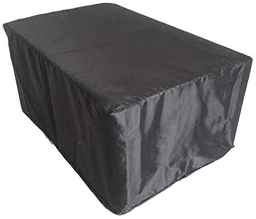 dfff Fundas para Muebles de jardín Protector Impermeable a Prueba de Polvo Sofá de Exterior Mesa y Silla de Patio Suave Plegable Negro (Color: Negro, Tamaño: 60X60X100cm)