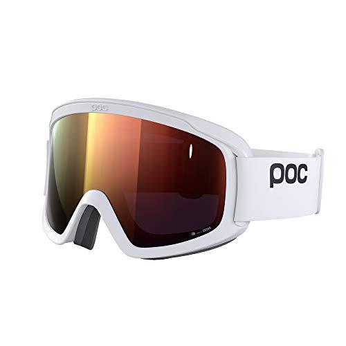 POC Opsin Clarity Maschera da Sci, Unisex Adulto, Hydrogen White/Spektris Orange, Taglia Unica