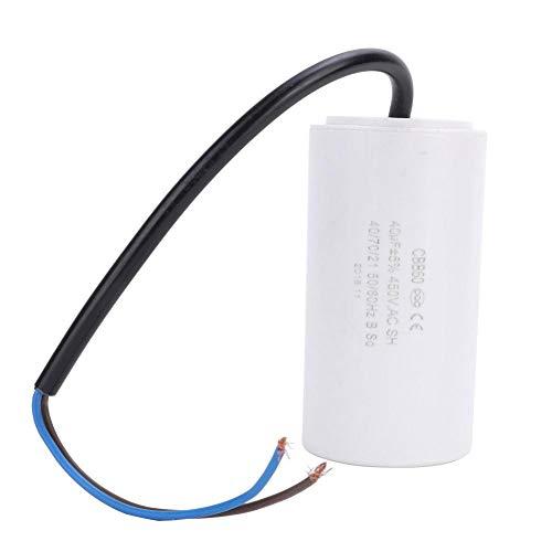 Condensador CBB60, condensador de arranque de motor de 450 V CA 40 uF, condensador de funcionamiento para lavadora, aire acondicionado, refrigerador, electrodoméstico
