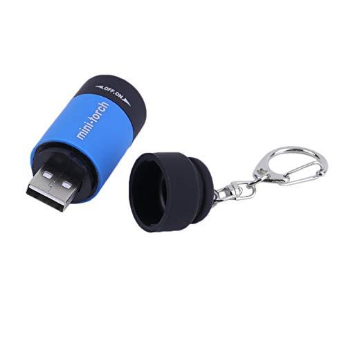 Ballylelly Mini Llavero antorcha Linterna Recargable USB 0.5W 25lm antorcha eléctrica compacta Linterna de Camping al Aire Libre
