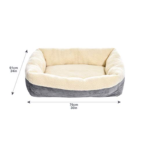 AmazonBasics Rectangle Self Warming Pet Bed For Cat or Dog - 30 x 9 x 24 Inches